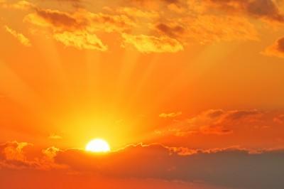 Beautiful sunset kopi